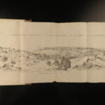 1857 JERUSALEM 1st ed Illustrated Holy Land Maps Temple Ancient Israel Barclay