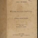 1859 Washington Irving Works Christopher Columbus Mahomet Alhambra 16v Leather