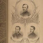 1864 Civil War 1ed Life w/ 49th Massachusetts Volunteers Illustrated Portraits