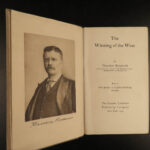 1906 RARE Theodore Roosevelt Winning of the West Americana INDIAN Wars 6v SET