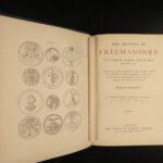 1883 EXQUISITE Freemasonry Gould Illustrated Masonic Secrets Mysticism Cabala 6v
