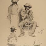 1899 1ed EW Kemble Sketch Book African American Caricatures Black America