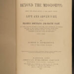 1867 1ed Beyond Mississippi INDIANS Slavery Mormons California GOLD Railroad MAP