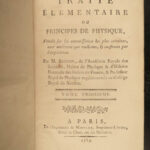 1789 PHYSICS Science Experiments Illustrated Astronomy 3v Brisson Principles
