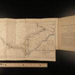 1865 1ed SHERMAN Great March Civil War Georgia Carolina Nichols Illustrated MAP