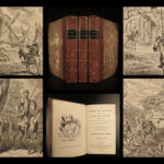 1833 1ed Don Quixote Cervantes Chivalry Smollett Cruikshank Illustrated Eng 3v