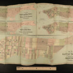 1870 New York City Business HUGE MAPS Manhattan Color Illustrated Corporation