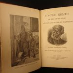 1881 TRUE 1ed 1st printing Uncle Remus Harris Slavery Song of South Brer Rabbit
